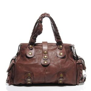 Buttery brown leather Chloë Silverado Doctor bag